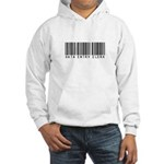 Data Entry Clerk Barcode Hooded Sweatshirt