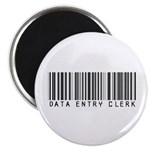 Data Entry Clerk Barcode Magnet