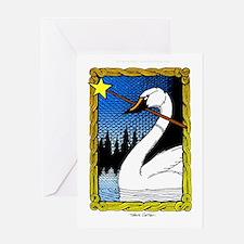 'Swan Magic' Color Greeting Card