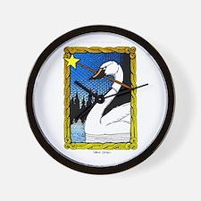 'Swan Magic' Color Wall Clock