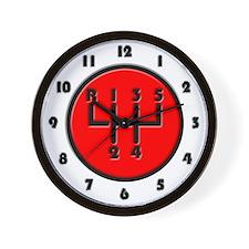 Stick shift Wall Clock