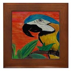 Parrot Head Framed Tile