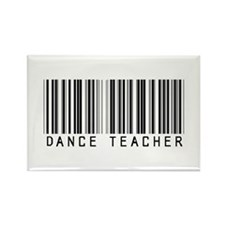 Dance Teacher Barcode Rectangle Magnet (10 pack)