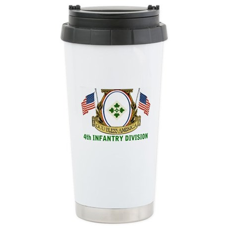 4th INFANTRY Stainless Steel Travel Mug