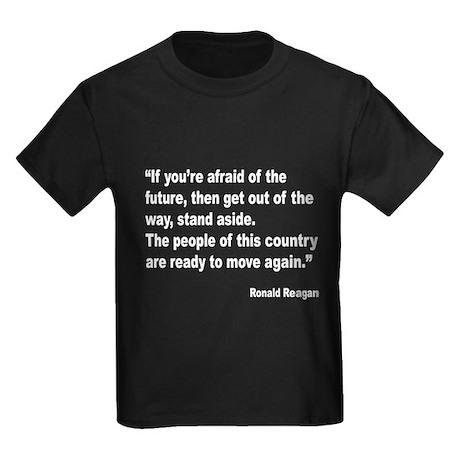 Reagan Future Quote (Front) Kids Dark T-Shirt