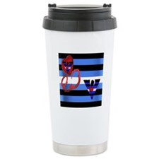 LEATHER PRIDE FLAG/FALCONS Travel Mug