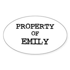 Property of Emilio Oval Decal