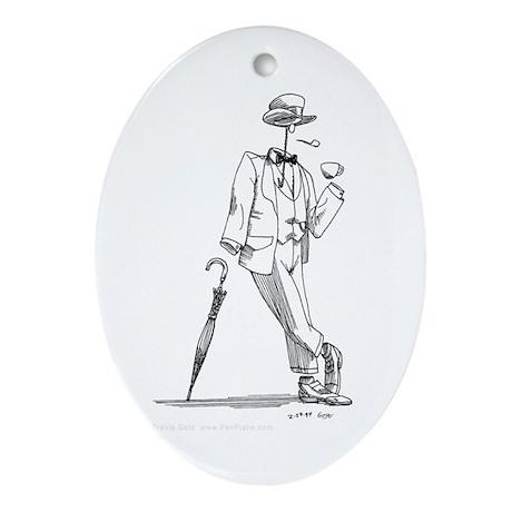 'Invisible Man' Oval Ornament