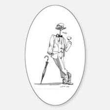 'Invisible Man' Oval Decal