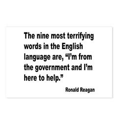 Reagan Terrifying Words Quote Postcards (Package o