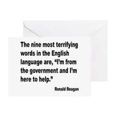 Reagan Terrifying Words Quote Greeting Card