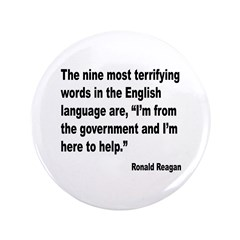 Reagan Terrifying Words Quote 3.5
