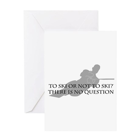 To Ski Or Not To Ski (Waterskiing) Greeting Card