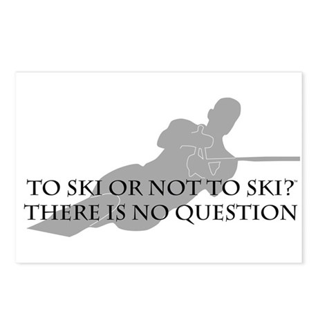 To Ski Or Not To Ski (Waterskiing) Postcards (Pack