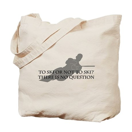 To Ski Or Not To Ski (Waterskiing) Tote Bag