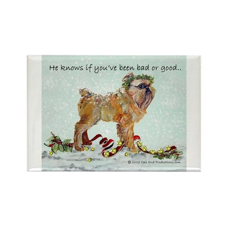 Brussels Griffon Holiday Gree Rectangle Magnet (10