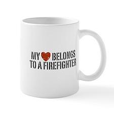My Heart Belongs to a Firefighter Mug
