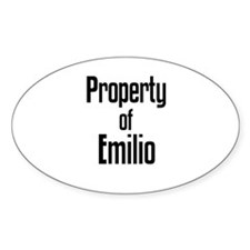 Property of Elvis Oval Decal