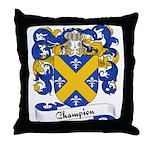 Champion Family Crest Throw Pillow