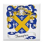 Champion Family Crest Tile Coaster