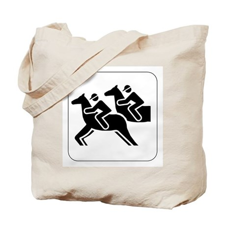 Horse Racing Icon Tote Bag