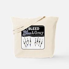 Bleed Blue & Gray Tote Bag