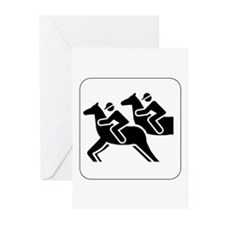 Horse Racing Icon Greeting Cards (Pk of 10)