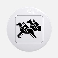 Horse Racing Icon Keepsake (Round)