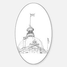 'Savannah Capitol' Oval Decal