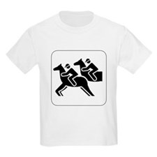 Horse Racing Icon Kids T-Shirt