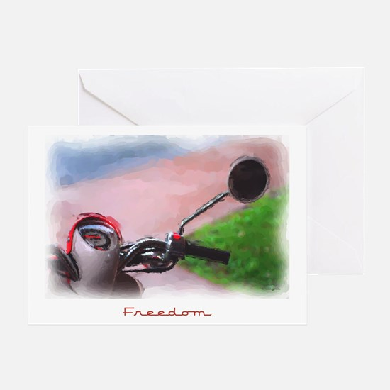 Freedom Scooter Greeting Card