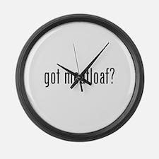 got meatloaf? Large Wall Clock