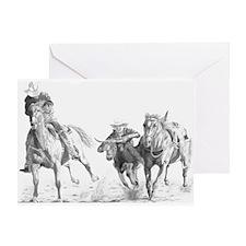 Steer Wrestler Greeting Card