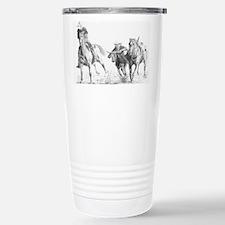 Steer Wrestler Travel Mug