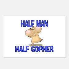 Half Man Half Gopher Postcards (Package of 8)