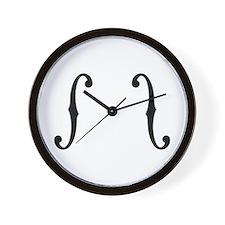 F-Holes Wall Clock