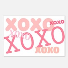 Pink XOXO Hugs and Kisses Postcards (Package of 8)