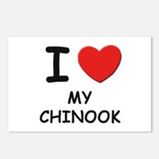 I love MY CHINOOK Postcards (Package of 8)