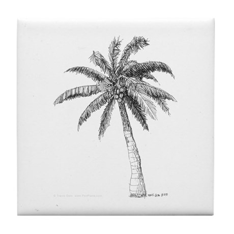 'Lone Palm' Tile Coaster