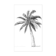 'Lone Palm' Rectangle Decal