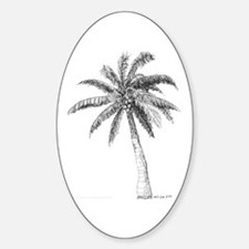 'Lone Palm' Oval Decal