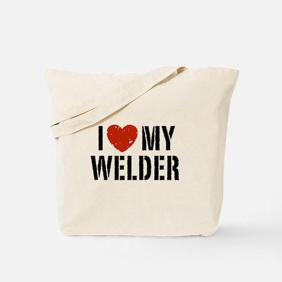 I Love My Welder Tote Bag