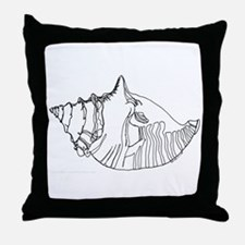 'Conch Shell' Throw Pillow