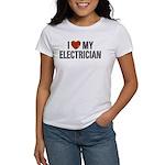 I Love My Electrician Women's T-Shirt