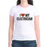 I Love My Electrician Jr. Ringer T-Shirt