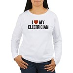 I Love My Electrician Women's Long Sleeve T-Shirt