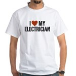 I Love My Electrician White T-Shirt