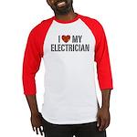 I Love My Electrician Baseball Jersey