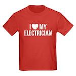 I Love My Electrician Kids Dark T-Shirt