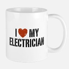 I Love My Electrician Mug